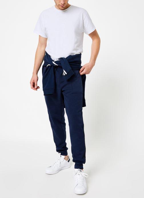 Vêtements adidas performance M Id Sweat Pt Bleu vue bas / vue portée sac