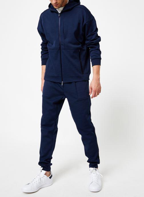 Vêtements adidas performance M Id Sweat Hd Bleu vue bas / vue portée sac