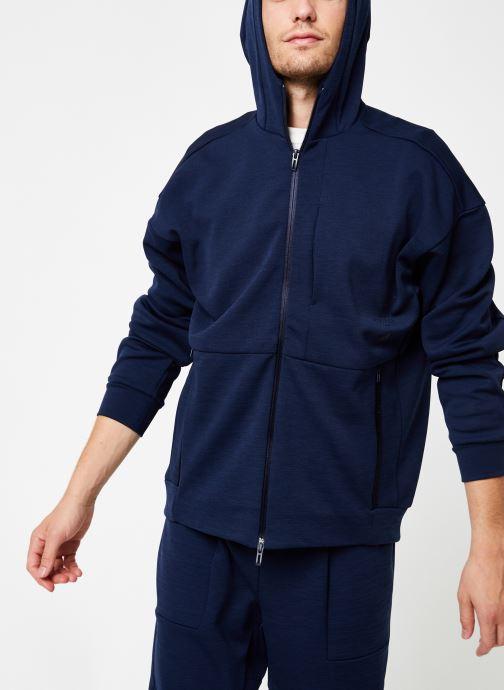 Vêtements adidas performance M Id Sweat Hd Bleu vue détail/paire