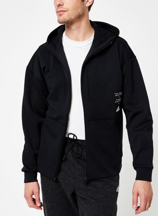Vêtements adidas performance M Id Sweat Hd Noir vue détail/paire