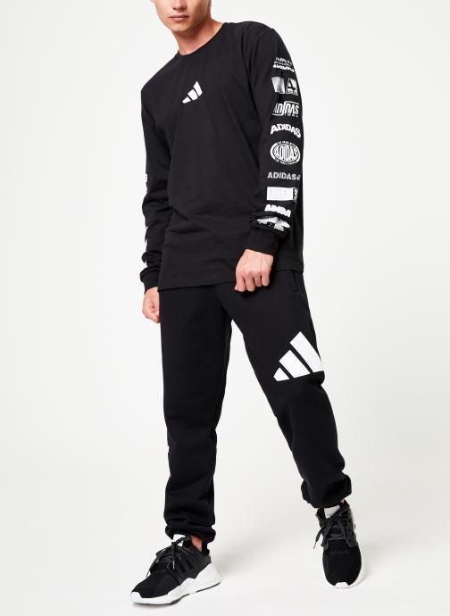 Vêtements adidas performance Tp Long Sleeve Noir vue bas / vue portée sac