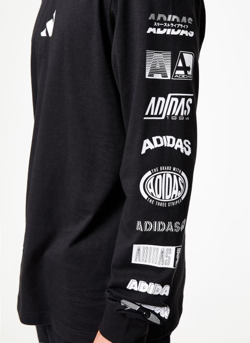Vêtements adidas performance Tp Long Sleeve Noir vue face