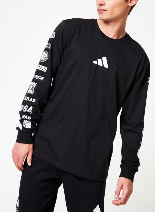 Vêtements adidas performance Tp Long Sleeve Noir vue droite