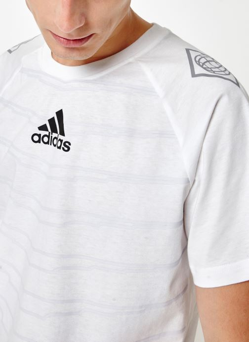 Vêtements adidas performance M Id Grfx T Blanc vue face