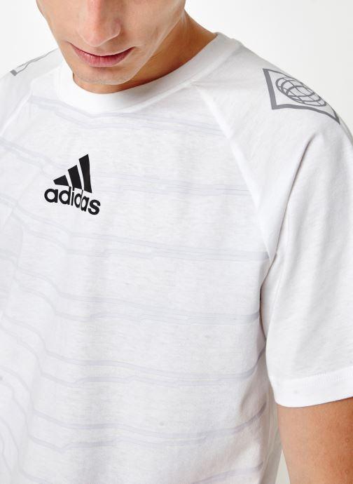 Vêtements adidas performance M Id Grfx T Blanc vue face