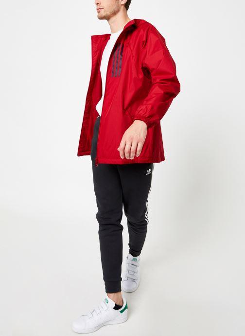 Vêtements adidas performance M Wnd Jkt Lined Rouge vue bas / vue portée sac