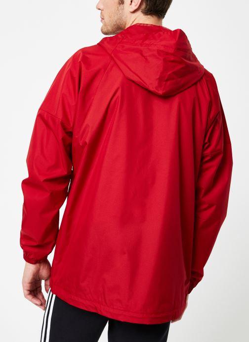 Vêtements adidas performance M Wnd Jkt Lined Rouge vue portées chaussures