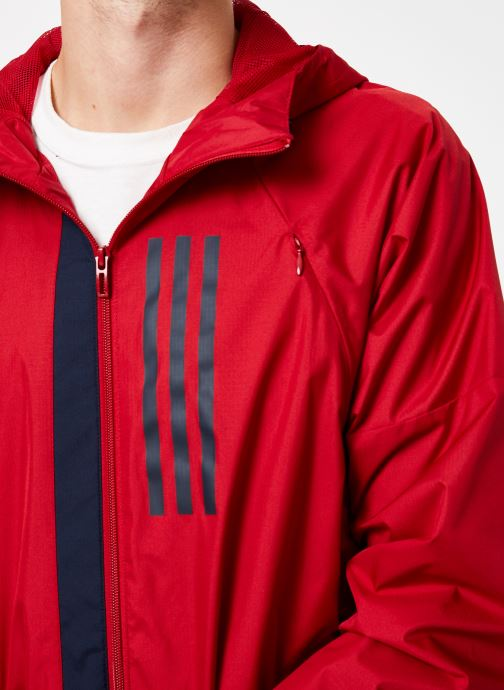 Vêtements adidas performance M Wnd Jkt Lined Rouge vue face