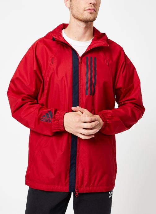 Vêtements adidas performance M Wnd Jkt Lined Rouge vue droite