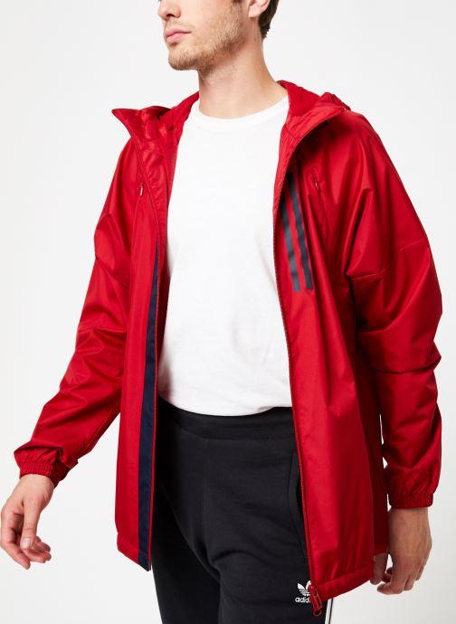Vêtements adidas performance M Wnd Jkt Lined Rouge vue détail/paire