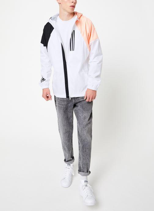 Vêtements adidas performance M Wnd Jkt Lined Blanc vue bas / vue portée sac