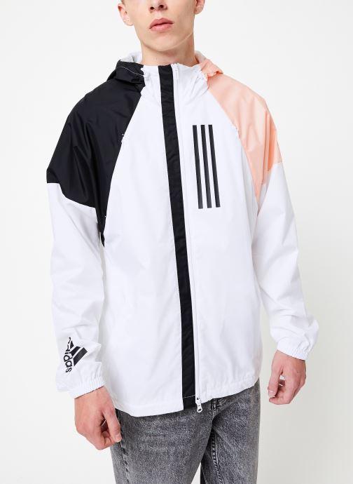 Vêtements adidas performance M Wnd Jkt Lined Blanc vue droite