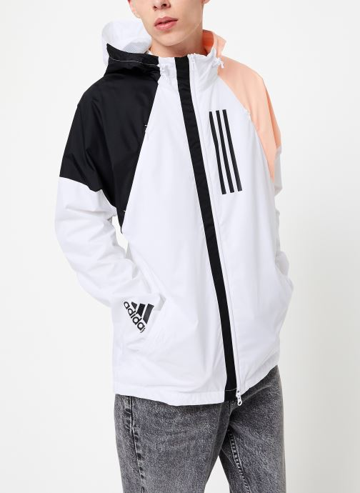 Vêtements adidas performance M Wnd Jkt Lined Blanc vue détail/paire