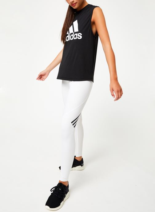 Vêtements adidas performance W Mh Bos Tank Noir vue bas / vue portée sac