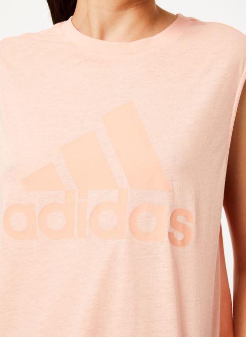 Vêtements adidas performance W Mh Bos Tank Rose vue face