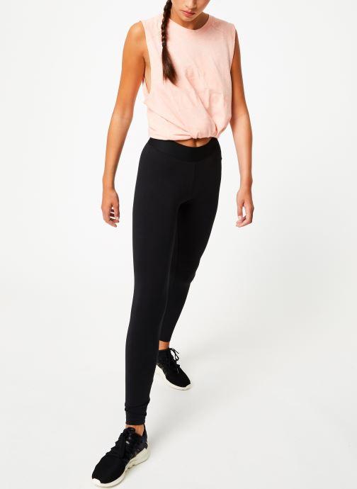 Vêtements adidas performance W Mh Bos Tight Noir vue bas / vue portée sac