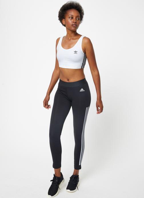 Vêtements adidas performance W Mh 3S Tight Noir vue bas / vue portée sac