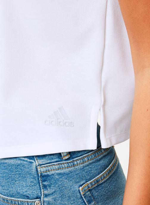 Vêtements adidas performance Atteetude Tee Blanc vue face