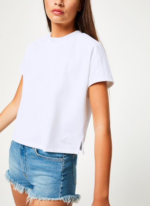 Vêtements adidas performance Atteetude Tee Blanc vue détail/paire