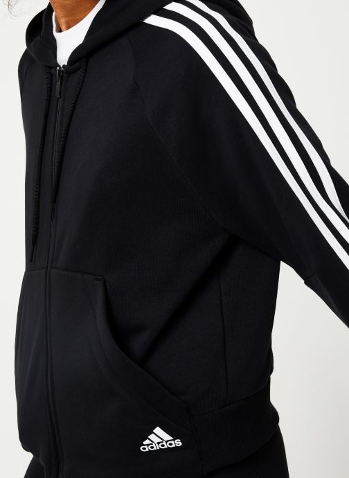 Vêtements adidas performance W Mh 3S Fz Hd Noir vue face