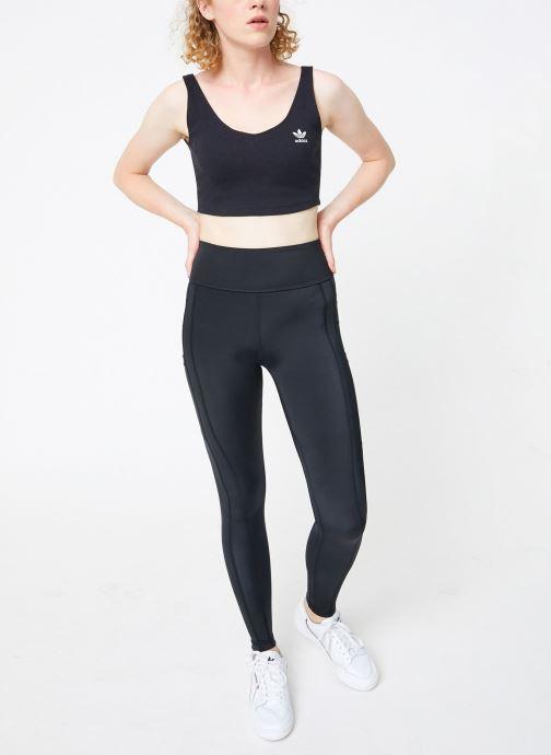Vêtements adidas performance W Zne Tight Noir vue bas / vue portée sac