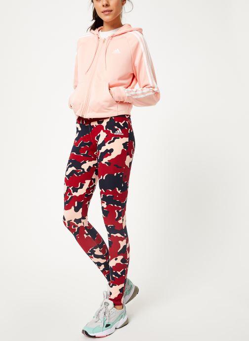 Vêtements adidas performance Wts Hoody&Tight Rose vue bas / vue portée sac