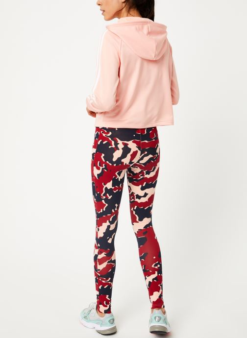Vêtements adidas performance Wts Hoody&Tight Rose vue portées chaussures