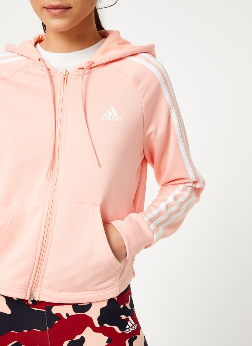 Vêtements adidas performance Wts Hoody&Tight Rose vue face