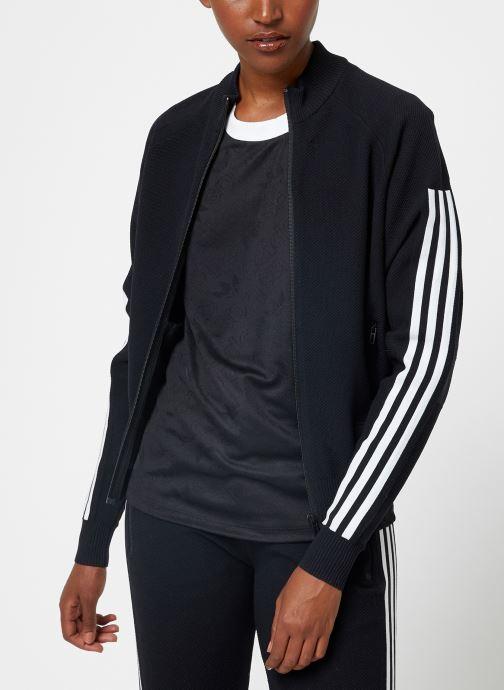 Vêtements adidas performance W Id Knit Tt Noir vue droite