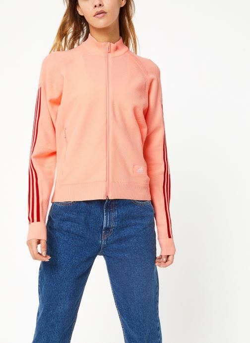 Vêtements adidas performance W Id Knit Tt Rose vue droite