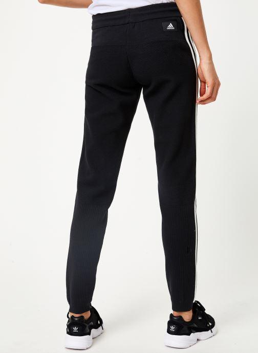 Vêtements adidas performance W Id Knit Pant Noir vue portées chaussures