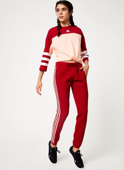 Vêtements adidas performance W Id Knit Pant Rouge vue bas / vue portée sac