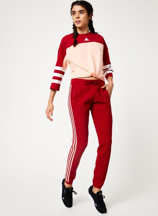 Vêtements adidas performance W Id Knit Pant Rouge vue bas / vue portée sac