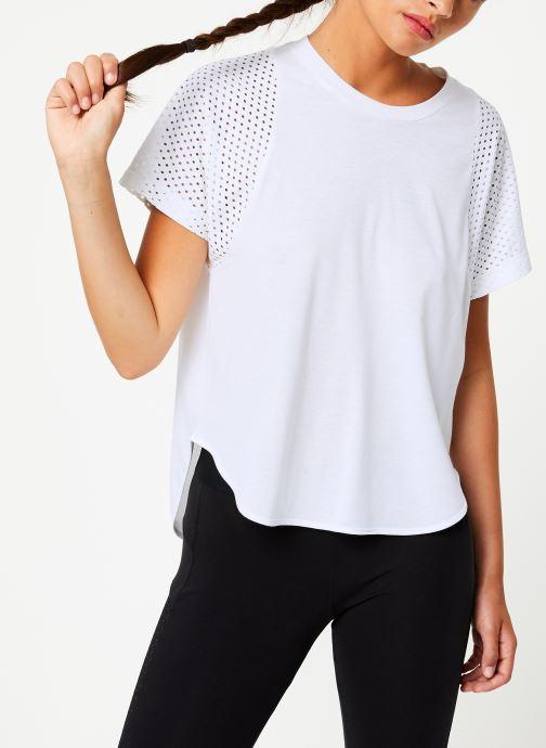 Vêtements adidas performance W Id Mesh Tee Blanc vue détail/paire