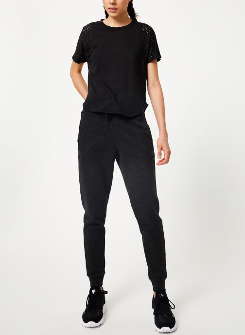 Vêtements adidas performance W Id Mesh Tee Noir vue bas / vue portée sac