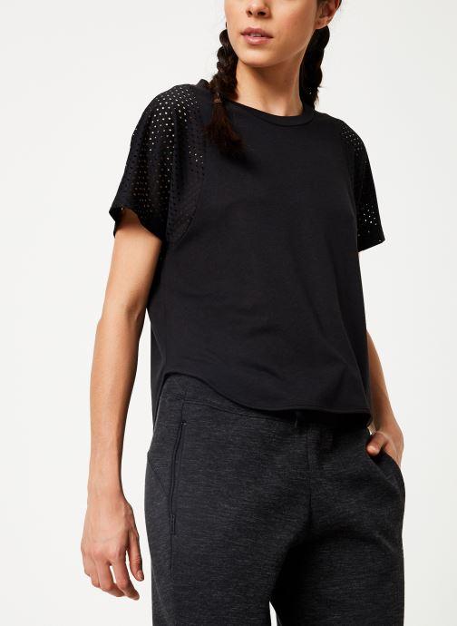 Vêtements adidas performance W Id Mesh Tee Noir vue détail/paire