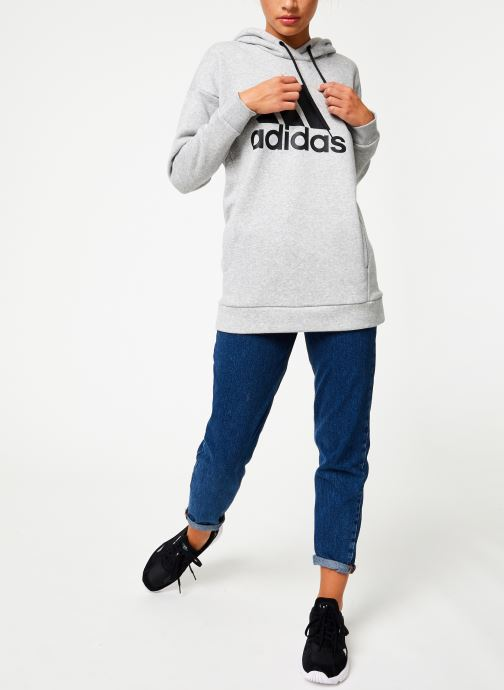 Vêtements adidas performance W Mh Bos Oh Hd Gris vue bas / vue portée sac