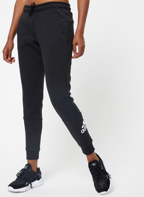 Vêtements adidas performance W Mh Bos Pant Noir vue détail/paire