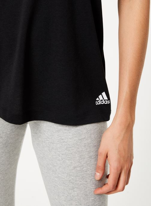 Vêtements adidas performance W Mh 3S Tee Noir vue face