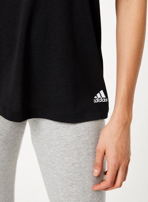 Vêtements adidas performance W Mh 3S Tee Noir vue face