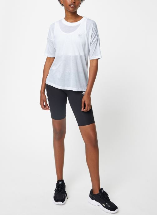 Tøj adidas performance W Mh 3S Tee Hvid se forneden