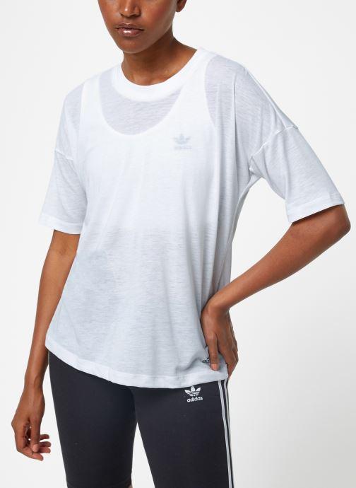 Tøj adidas performance W Mh 3S Tee Hvid Se fra højre