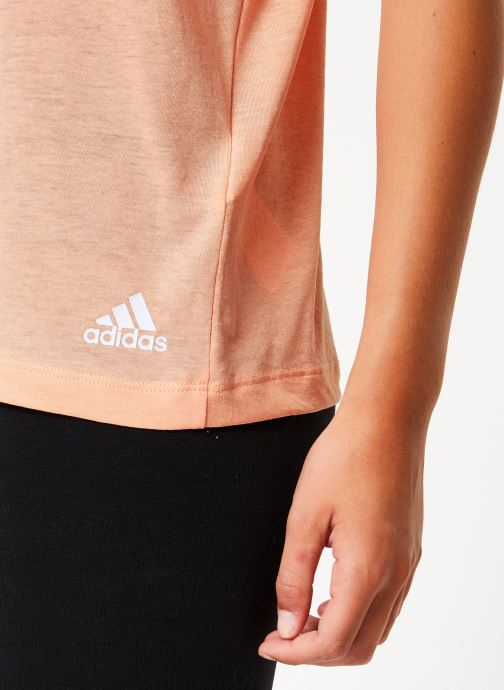Kleding adidas performance W Mh 3S Tee Roze voorkant
