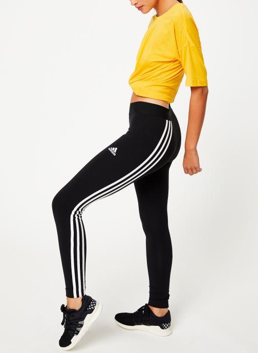 Vêtements adidas performance W Asym 3S Tight Noir vue bas / vue portée sac