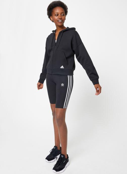 Vêtements adidas performance W Mh 3S Dk Hd Noir vue bas / vue portée sac