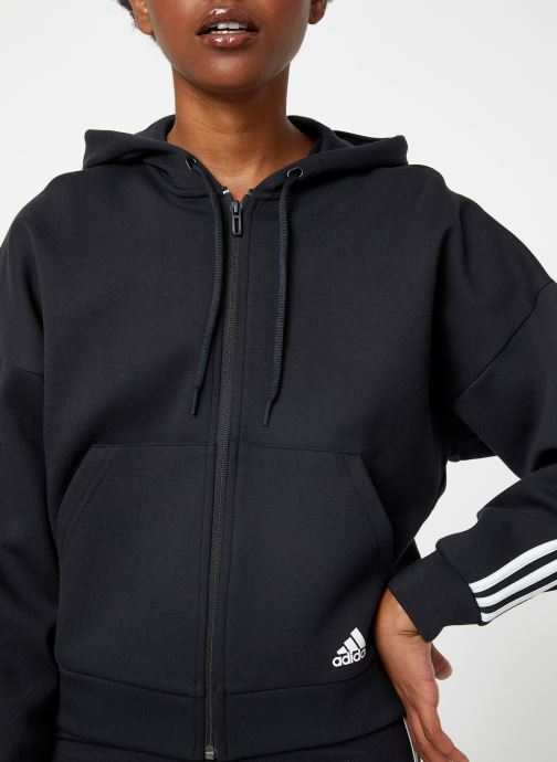 Vêtements adidas performance W Mh 3S Dk Hd Noir vue face