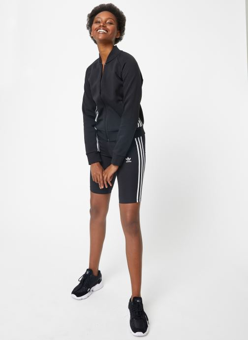 Vêtements adidas performance W Mh 3S Dk Jkt Noir vue bas / vue portée sac