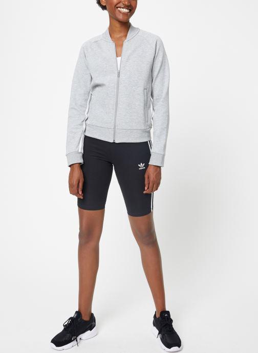 Vêtements adidas performance W Mh 3S Dk Jkt Gris vue bas / vue portée sac