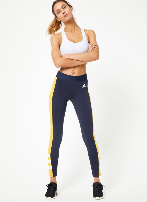 Vêtements adidas performance W Sid J Tight Bleu vue bas / vue portée sac