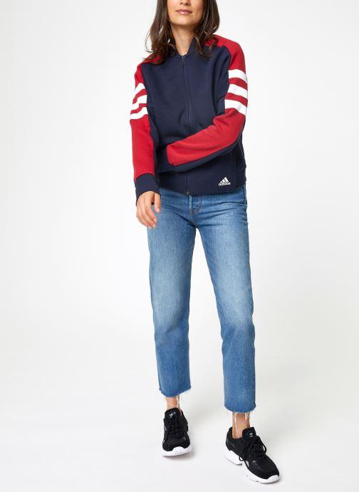 Vêtements adidas performance W Sid Jacket Bleu vue bas / vue portée sac